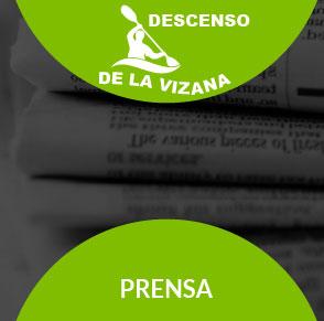 Descenso de la Vizana en la prensa